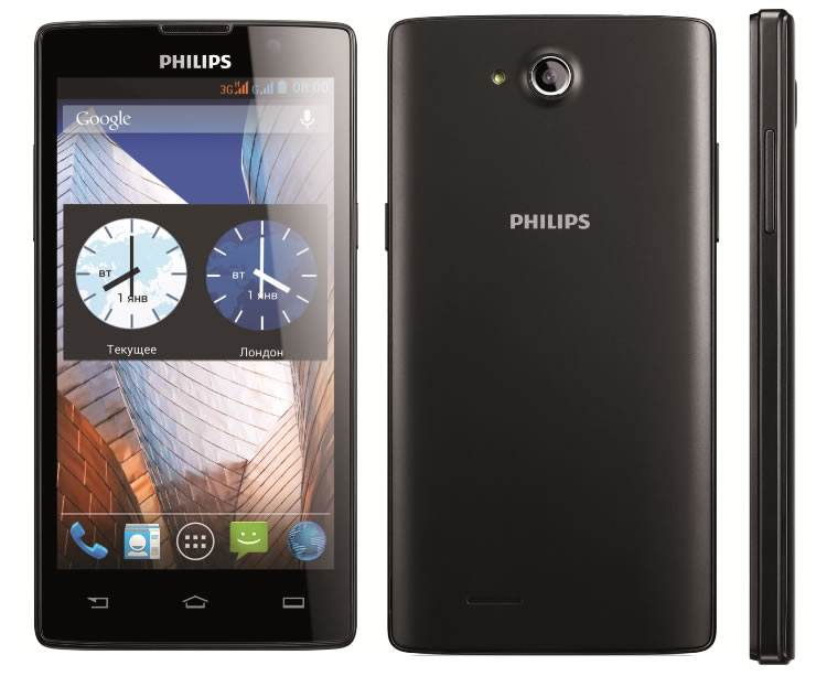 The Philips W3500 smartphone was released in December 2013. It is a ...