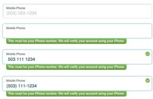 phone validation
